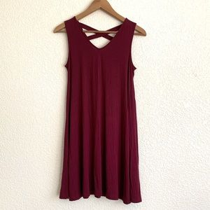 NWT Style&CO petite crisscross dress in wine.